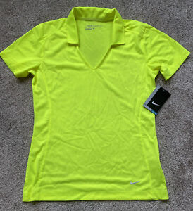 Womens Size Small Nike Golf Polo Shirt Neon Green Short Sleeve 637165-702