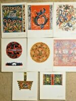 "8 Color Prints Norwegian Designs ""old rose paint from telemark"" Portfolio"