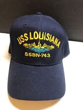 USS Louisiana SSBN-743 Ball Cap Submarine Silver Dolphins Navy Sub Veteran Hat