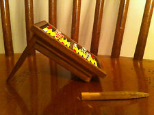 vintage backgammon table dollhouse Furniture old Gambling Gambler Chips Dice