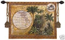 Global Safari Wall Tapestry Tropical Design Map Picture