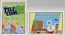 Libia Libia 1991 1868-69 1403-04 Telecom 91 telecomunicazioni tecnica esposizione MNH