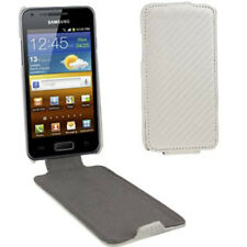 Flip Tasche Struktur für Samsung i9070 Galaxy S Advance in weiß Etui Case Hülle