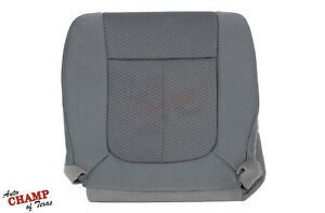 2011-2014 Ford F150 XLT STX-Driver Side Bottom Replacement Cloth Seat Cover Gray