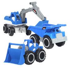 3pcs Camión Excavadora Digger Bulldozer De ingeniería Juguete de playa niños