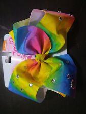 New JoJo Siwa Signature Large Hair Bow Rainbow Rhinestone Multicolor