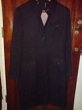 Next Gorgeous Black Winter Warm Wool Knit Long Coat Size 14 EU 42