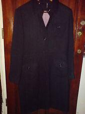 Next Gorgeous Black Winter Warm Wool Knit Long Coat Size 14 EU 42