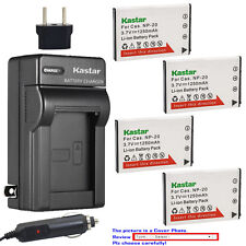 Kastar Battery AC Charger for Casio Genuine NP-20 CNP20 & OEM BC-11L BC-31L