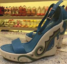Authentic Prada Wedge Platform Sandals Size 36 Originally Paid $890