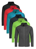 Breathable Lightweight GREEN BLACK RED GREY BLUE Full Zip Micro Fleece Jacket