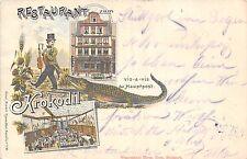 POSTCARD   GERMANY   KROKODIL  Restaurant  (  Early  Posting 1898 )
