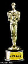 "Award Statue Mini Plastic Faux ""Oscar"" First Place Hollywood Themed Statue"