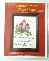 Vintage Needle Magic Mans Castle Counted Cross Stitch Kit 802