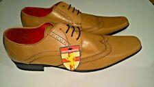 Men's BNWT Lambretta Smart Lace Up Brown Leather Shoes (UK 10) RRP £75