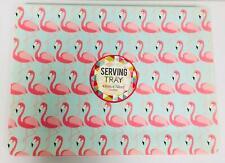 Large Tropical Flamingo Designer Serving Tray