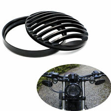 Black Metal Headlight Grill Cover Fits Harley Davidson Sportster XL 883 1200 X48