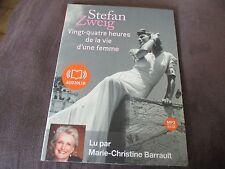 """LIVRE AUDIO """"24 HEURES DE LA VIE D'UNE FEMME"""" par Marie-Christine BARRAULT (1 CD"""