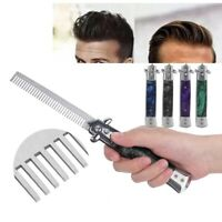 Switchblade Automatic Spring Pocket Oil Hair Comb Foldable Push Button Brush
