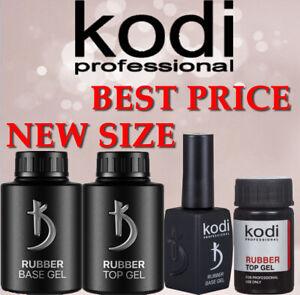 Kodi Rubber Base, Top Matte 7, 12,14, 30, 35ml. Primer 10ml No Sticky Gel LED UV