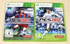 2 XBOX 360 SPIELE SAMMLUNG - PES 2011 & 2012 - FUSSBALL PRO EVOLUTION SOCCER