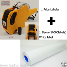 8Digits Price Gun Labeler Mx-5500 + 10000 Labels (White) +Free Ink