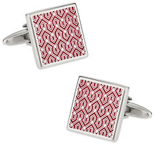 Red Tapestry Cufflinks Direct from Cuff-Daddy