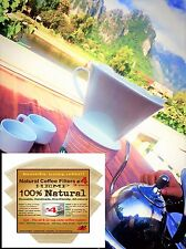 Reusable Cone Coffee Filters #4 Melitta Style by P&F (3 packs)