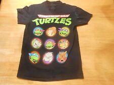 OFFICIAL TEENAGE MUTANT NINJA TURTLES TMNT BLACK T-SHIRT SIZE: SMALL *NEW*