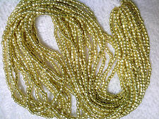 Vtg 1 HANK GOLD 3 CUT (true) GLASS SEED GLASS BEAD LIMITED QUANTITY 9/0 #051614b