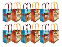 Western Cowboy Cowgirl Themed Party Favor Treat Bags, 12 Pack