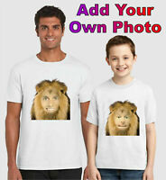 Personalised Lion T-Shirt, Add Your Face Funny Birthday Gift Kids Adults Top