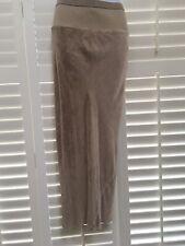 RICK OWENS~Runway '05 Ribbed Elasticated waist velvet maxi skirt UK8 (fits 8-12)
