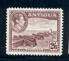 ANTIGUA 92 SG106a MH 1942 2sh6p KGVI Defin Fort James Cat$16