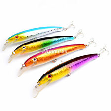 4Pcs/Lot Plastic Huge Bait Minnow Fishing Lures Bass CrankBait Tackle 17cm 26.2g