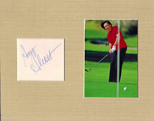 Amy Alcott Signed matted with Photo Coa 1/17