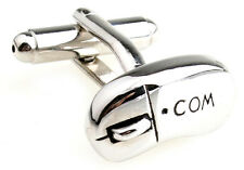 Com Mouse Cufflinks Silver Internet PC Wedding Fancy Gift Box Free Ship USA