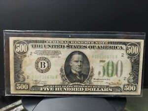 Rare! LGS 1934 New York $500 Five Hundred Dollar Bill  B00038676A