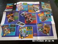 Nintendo NES Data East 1989 Promo Poster / Insert