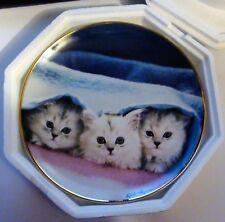 Franklin Mint Peek-A-Boo Cat Plate By Kiki Haynes Persian Kittens