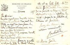 RACHILDE. L.A.S. de Rachilde sur papier à lettre à l'en-tête du Mercure de Franc