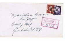 40 cent Liberty issue, registered, Huntington to Riverhead, NY, 1957