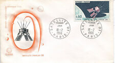FRANCE FDC - 565 1476 2 SATELLITE D1 - 18 Février 1966 - LUXE
