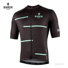 NEW 2021 Bianchi Milano DISUERI Short Sleeve Cycling Jersey : BLACK