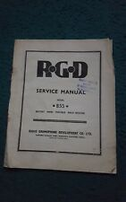 SERVICE MANUAL - RGD BATTERY / MAINS  PORTABLE VALVE RADIO MODEL B55