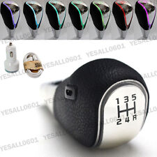 Gear Stick Manual Transmission Touch Sensor LED Color Light Leather Shift Knob