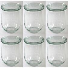 6x Weck Tulpe 1000 ml Gläser Einweck Glas + Deckel Einmachglas Einkochglas
