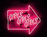 """Girls Girls Girls Arrow Neon Sign Light Home Room Wall Poster Art Visual12""""x10"""""""