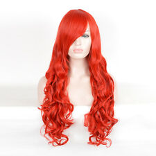 costumes party COSPLAY Wigs Long Curly Hair Bright Red Wig Batman Poison Ivy