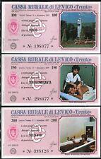 CASSA RURALE LEVICO TRENTO 1977/SERIE 6 PZ/MEDICINE/BATHS//PAPER MONEY FDS/UNC